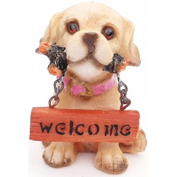 Cane resina welcome cm 10x6